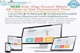 Website Designing & Development at an affordable price with free Hosting